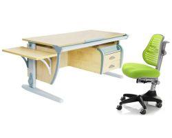 Комплект ДЭМИ Парта СУТ 15-03К с креслом Conan и прозрачной накладкой на парту 65х45