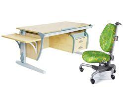 Комплект ДЭМИ Парта СУТ 15-03К с креслом Nobel и прозрачной накладкой на парту 65х45