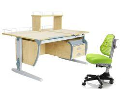 Комплект ДЭМИ Парта СУТ 17-04Д с креслом Conan и прозрачной накладкой на парту 65х45