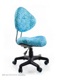 Комплект ДЭМИ Парта СУТ-25-01Д WHITE DOUBLE с раздельной столешницей с креслом Aladdin и прозрачной накладкой на парту 65х45