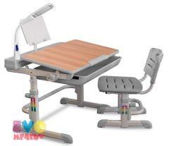 Комплект парта и стульчик Mealux EVO-04 с лампой