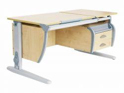 Комплект ДЭМИ Парта СУТ 17-03 120Х55 см с подвесной тумбой с креслом Cambridge и прозрачной накладкой на парту 65х45