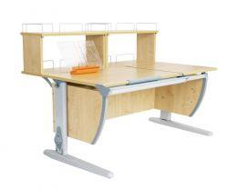 Комплект ДЭМИ Парта СУТ 17-01Д2 с креслом Stanford и прозрачной накладкой на парту 65х45