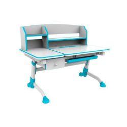 Комплект FunDesk Парта-трансформер Amare II с ящиком с креслом Buono и прозрачной накладкой на парту 65х45