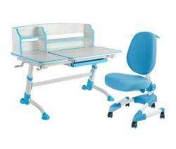 Комплект FunDesk Парта-трансформер Amare II с креслом Buono и прозрачной накладкой на парту 65х45