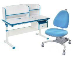 Комплект FunDesk Парта-трансформер Creare с креслом SST4 и прозрачной накладкой на парту 65х45