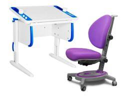 Комплект ДЭМИ Парта Techno СУТ 26 с креслом Stanford и прозрачной накладкой на парту 65х45