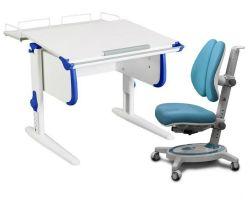 Комплект ДЭМИ Парта WHITE СТАНДАРТ СУТ-24-01 с креслом Stanford Duo и прозрачной накладкой на парту 65х45