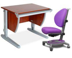 Комплект ДЭМИ Парта СУТ-13 60х50 см с креслом Stanford и прозрачной накладкой на парту 65х45