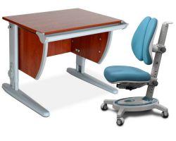 Комплект ДЭМИ Парта СУТ-13 60х50 см с креслом Stanford Duo и прозрачной накладкой на парту 65х45