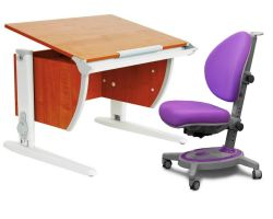 Комплект ДЭМИ Парта СУТ-14 75х55 см с креслом Stanford и прозрачной накладкой на парту 65х45