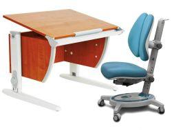 Комплект ДЭМИ Парта СУТ-14 75х55 см с креслом Stanford Duo и прозрачной накладкой на парту 65х45