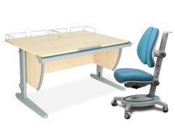 Комплект ДЭМИ Парта СУТ-15-01 120х55 см с креслом Stanford Duo и прозрачной накладкой на парту 65х45