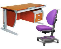 Комплект ДЭМИ Парта СУТ-15-03 120х55 см с креслом Stanford и прозрачной накладкой на парту 65х45
