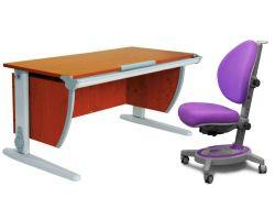 Комплект ДЭМИ Парта СУТ-15 120х55 см с креслом Stanford и прозрачной накладкой на парту 65х45
