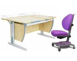 Комплект ДЭМИ Парта СУТ-17-01 120х80 см с креслом Stanford и прозрачной накладкой на парту 65х45