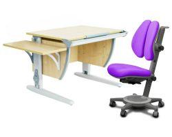 Комплект ДЭМИ Парта СУТ 14К с креслом Cambridge Duo и прозрачной накладкой на парту 65х45