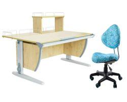 Комплект ДЭМИ Парта СУТ 15-01Д с креслом Aladdin и прозрачной накладкой на парту 65х45