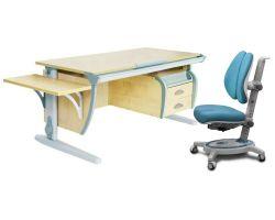 Комплект ДЭМИ Парта СУТ 15-03К с креслом Stanford Duo и прозрачной накладкой на парту 65х45