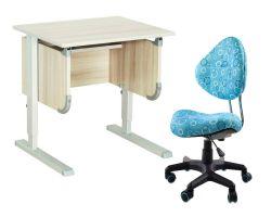 """Комплект ДЭМИ Парта """"Ученик"""" сут-28 с креслом Aladdin и прозрачной накладкой на парту 65х45"""
