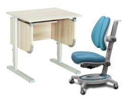 """Комплект ДЭМИ Парта """"Ученик"""" сут-28 с креслом Stanford Duo и прозрачной накладкой на парту 65х45"""