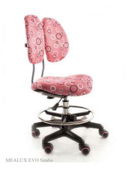 Комплект ДЭМИ Парта СУТ-25-03 WHITE DOUBLE с креслом Simba и прозрачной накладкой на парту 65х45