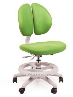 Комплект ДЭМИ Парта СУТ-25-01Д WHITE DOUBLE с раздельной столешницей с креслом Duo Kid mini и прозрачной накладкой на парту 65х45