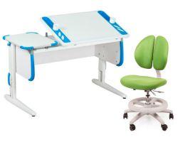 Комплект ДЭМИ Парта Techno СУТ 31 с креслом Duo Kid mini и прозрачной накладкой на парту 65х45