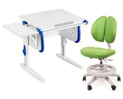Комплект ДЭМИ Парта WHITE СТАНДАРТ СУТ-24К с креслом Duo Kid mini и прозрачной накладкой на парту 65х45