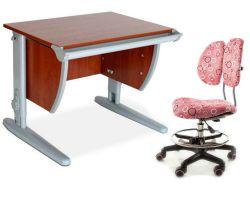 Комплект ДЭМИ Парта СУТ-13 60х50 см с креслом Simba и прозрачной накладкой на парту 65х45