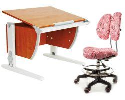 Комплект ДЭМИ Парта СУТ-14 75х55 см с креслом Simba и прозрачной накладкой на парту 65х45