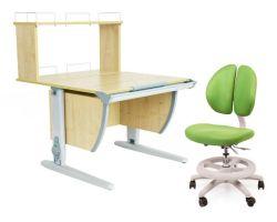Комплект ДЭМИ Парта СУТ 14-01Д с креслом Duo Kid mini и прозрачной накладкой на парту 65х45