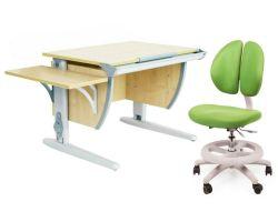 Комплект ДЭМИ Парта СУТ 14К с креслом Duo Kid mini и прозрачной накладкой на парту 65х45