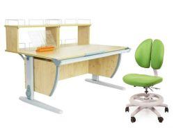 Комплект ДЭМИ Парта СУТ 15-01Д2 с креслом Duo Kid mini и прозрачной накладкой на парту 65х45