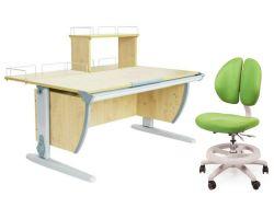 Комплект ДЭМИ Парта СУТ 15-01Д с креслом Duo Kid mini и прозрачной накладкой на парту 65х45