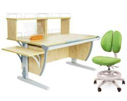Комплект ДЭМИ Парта СУТ 15-02Д2 с креслом Duo Kid mini и прозрачной накладкой на парту 65х45