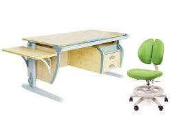 Комплект ДЭМИ Парта СУТ 15-03К с креслом Duo Kid mini и прозрачной накладкой на парту 65х45