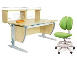 Комплект ДЭМИ Парта СУТ 17-01Д2 с креслом Duo Kid mini и прозрачной накладкой на парту 65х45