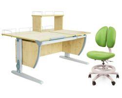 Комплект ДЭМИ Парта СУТ 17-01Д с креслом Duo Kid mini и прозрачной накладкой на парту 65х45