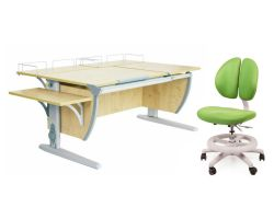 Комплект ДЭМИ Парта СУТ 17-02 с креслом Duo Kid mini  и прозрачной накладкой на парту 65х45