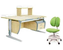 Комплект ДЭМИ Парта СУТ 17-04Д с креслом Duo Kid mini и прозрачной накладкой на парту 65х45