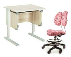 """Комплект ДЭМИ Парта """"Ученик"""" сут-28 с креслом Simba и прозрачной накладкой на парту 65х45"""