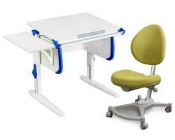 Комплект ДЭМИ Парта WHITE СТАНДАРТ СУТ-24К с креслом Neapol и прозрачной накладкой на парту 65х45