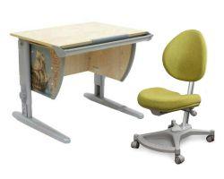 Комплект ДЭМИ Парта СУТ-14P 75х55 см с рисунком с креслом Neapol и прозрачной накладкой на парту 65х45