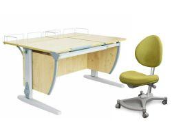 Комплект ДЭМИ Парта СУТ-17-01 120х80 см с креслом Neapol и прозрачной накладкой на парту 65х45
