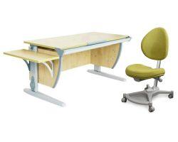 Комплект ДЭМИ Парта СУТ 15К с креслом Neapol и прозрачной накладкой на парту 65х45