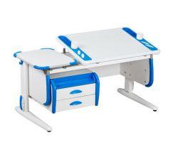 Комплект ДЭМИ Парта Techno СУТ 31-03 с тумбой с креслом Cambridge Duo и прозрачной накладкой на парту 65х45