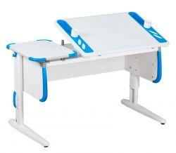 Комплект ДЭМИ Парта Techno СУТ 31 с креслом Cambridge Duo и прозрачной накладкой на парту 65х45