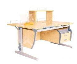 Парта ДЭМИ (Деми) СУТ 17-04Д (парта 120 см+две задние приставки+подвесная тумба) (образец)