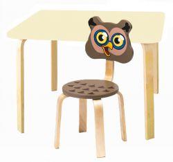 Комплект детской мебели Мордочки с ванильным столиком